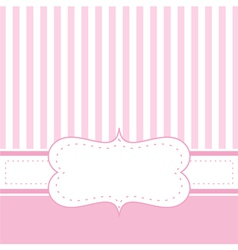 Pink card invitation or restaurant menu vector image vector image