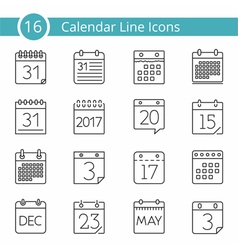 16 Calendar Icons vector