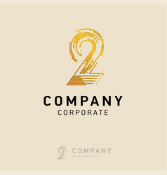 2 company logo design with white background vector image