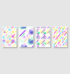 abstract covers with seamless background vector image