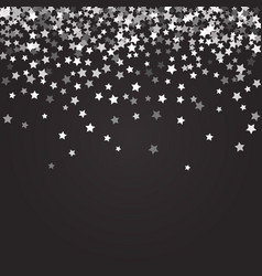 abstract pattern of random falling stars vector image