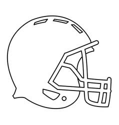 american footbal helmet equipment protection vector image vector image