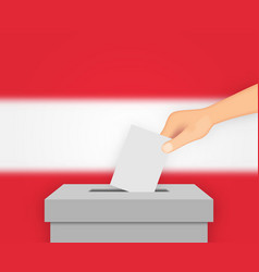 Austria election banner background ballot box vector