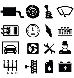 Automotive icons vector