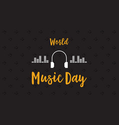 Banner of world music day flat vector