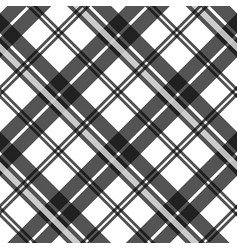 Black and white fabric texture check tartan vector