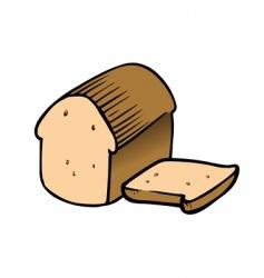 bread sliced vector image