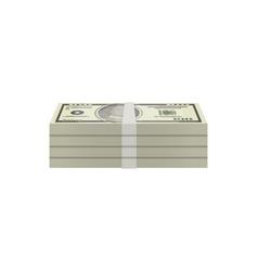 bundles of paper money isolated isometric icon vector image