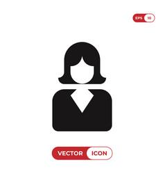 business woman icon femaleavatar symbol vector image