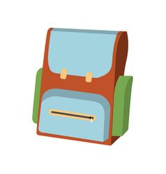 Cartoon schoolbag icon schools supplies vector