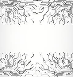 Circuit board background texture vector image