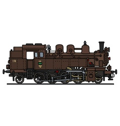 Classic steam locomotive vector