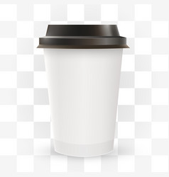 close up blank paper coffee cup vector image