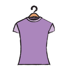 colored blurred silhouette of woman t-shirt in vector image