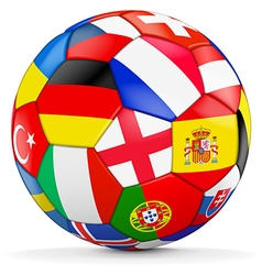 Colorful ball with euro 2016 countries vector