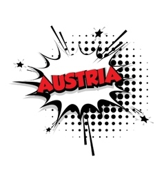 Comic text Austria sound effects pop art vector