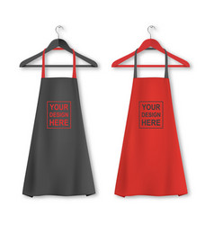 Cotton kitchen apron icon set with clothes vector