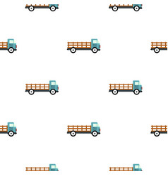 Delivery truck pattern flat vector