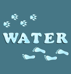 Drops water footprint vector