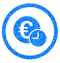 Euro credit rounded grainy icon vector
