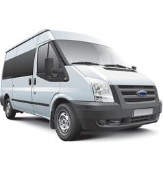 European passenger van vector