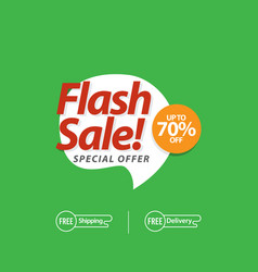 Flash sale up to 70 special offer template design vector