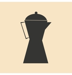 Flat in black and white mobile application coffee vector
