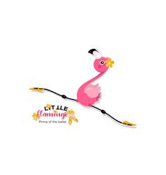 Flight a little flamingo in twine prima vector