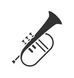 flugelhorn glyph icon vector image