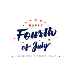 Fourth july usa lettering poster vector