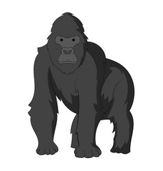 Gorilla icon monochrome vector
