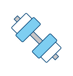 Gym dumbbell weight vector