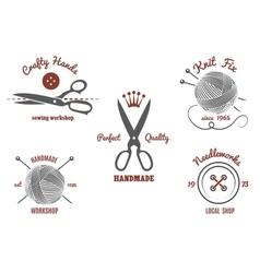 Handmade logos vector