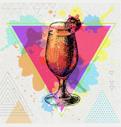 Hipster cocktail daiquiri vector