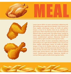 Infographic design of meal vector