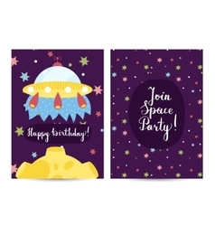 Invitation on Children Costumed Birthday Party vector image