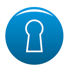 Keyhole icon blue vector