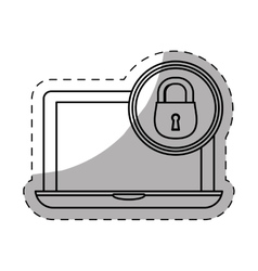 laptop lock server banner icon vector image