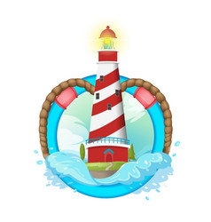 Lighthouse symbol logo design vector