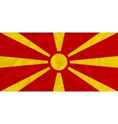 Macedonia paper flag vector image