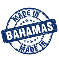 Made in bahamas blue grunge round stamp vector