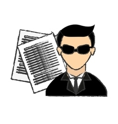 Male spy icon image vector