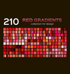 mega set of 210 red metal gradients magenta vector image