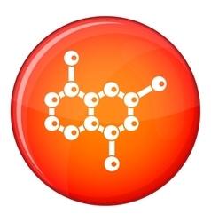 Molecule icon flat style vector