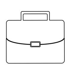 Monochrome contour of executive briefcase vector