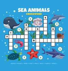 ocean fishes funny crossword vector image