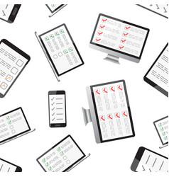 online survey checklist seamless pattern vector image