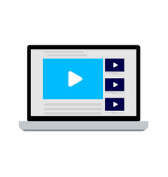 online video service on laptop vector image