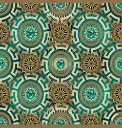 ornate greek jewelry seamless pattern ornamental vector image