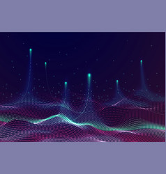 particles technology banner tech science vector image